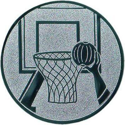 100 große Embleme Basketball gold  D:50mm (für Medaillen Pokale Pokal Medaille)