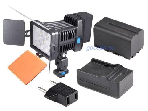 Profesión con 8pcs Led Led-5080 Luz de vídeo para cámara videocámara de video DV Lámpara