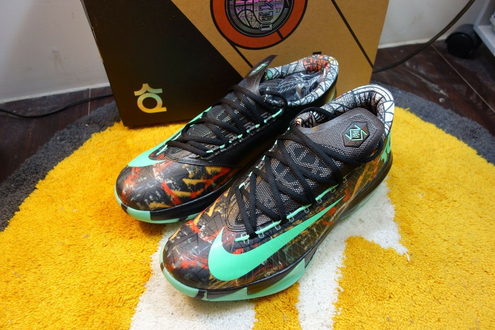 DS 2014NIKE KD VI 6 AS ILLUSION ALL STAR NOLA GUMBO GLOW 647781-930 DURANT OKC