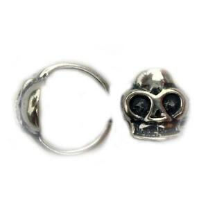 1 - .925 Sterling Skull Cartilage Helix Cuff Right Left Earring A53