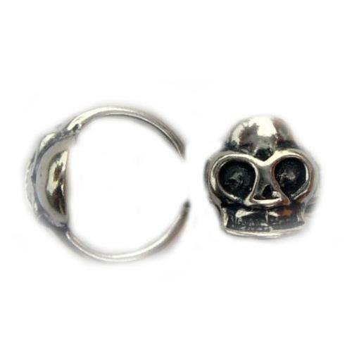 1 .925 Sterling Skull Cartilage Helix Cuff Right Left Earring A53