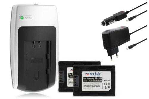 F50 F44 F43 F70 2 Akkus F53 F54 Ladegerät IA-BP105R für Samsung SMX-F40