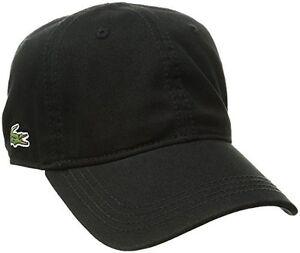 1095b39a0f8 NEW Lacoste Mens Mens Classic Gabardine 3cm Croc Cap black One Size ...