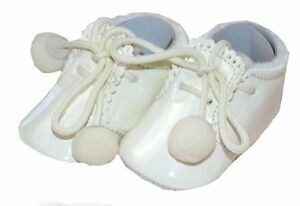 dddc9f33e Sevva Joe Romany Spanish Style Patent Cream Pom Pom Boots Soft ...