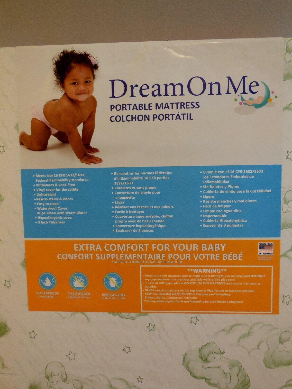 Dream On Me 3-Inch Foam Play Yard Mattress