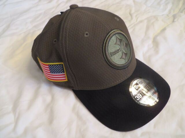 new style 16e9b 42a56 Era NFL Pittsburgh Steelers 2017 Salute to Service 39thirty Flex Hat M l
