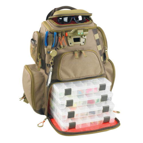 Wild River NOMAD Lighted Tackle Backpack w//4 PT3600 Trays