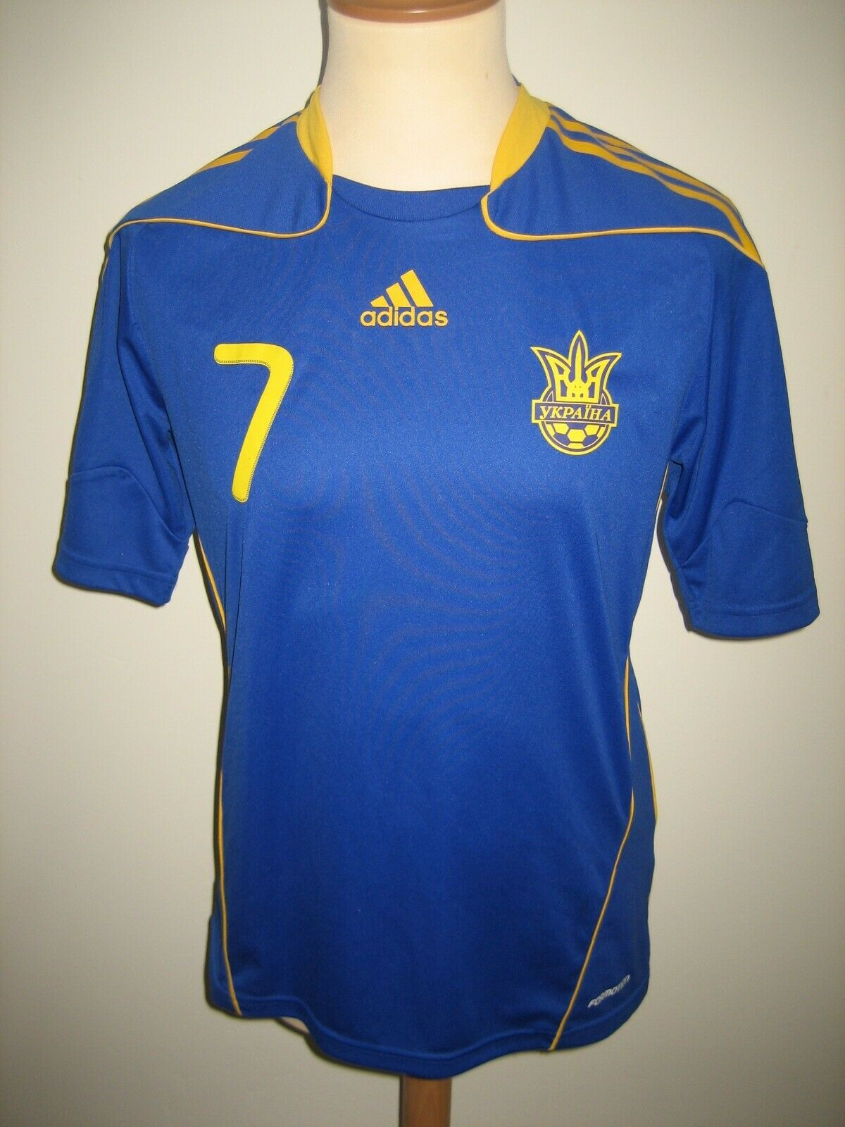 Ukraine MATCH WORN Shevchenko away football shirt soccer jersey maillot Dimensione M