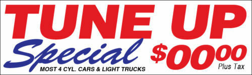 10 15 8 20/' wb 3 12 4 6 TUNE UP SPECIAL customVinyl Banner Auto Sign 2