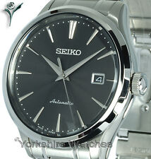 New SEIKO SUPERIOR AUTO BLACK FACE WITH STAINLESS STEEL BRACELET SRP703J1