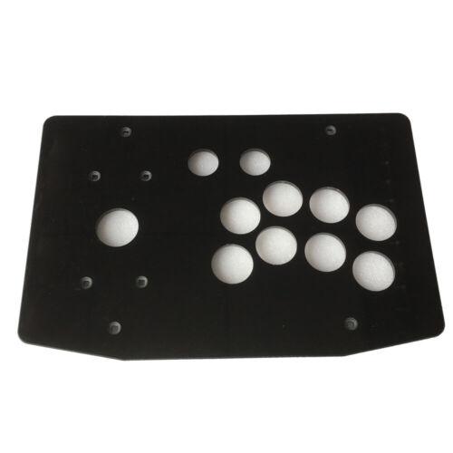 DIY Arcade Joystick Kits Joystick Acrylic Panel Flat Case 24mm//30mm Buttons Hole