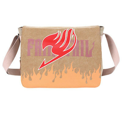 Trend Fairy Tail Guild Canvas Shoulder Messenger Bag Flap School Laptop Backpack