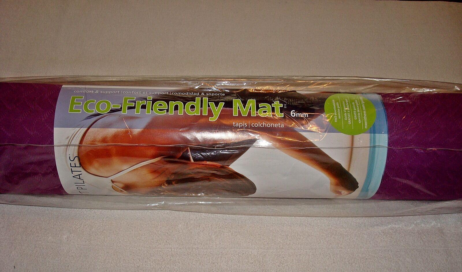STOTT PILATES ECO-FRIENDLY ECO-FRIENDLY ECO-FRIENDLY MAT PLUM & CRANBERRY 6ce258