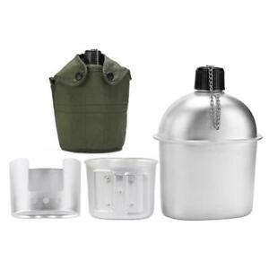 3Pcs-Camping-Cookware-Set-Aluminum-Military-Canteen-Bag-Cover-Stove-Wood-F3W9