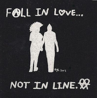 DIY Punk Rock Love Peace Anarcho Crust Peace Radical Small Cloth Patch