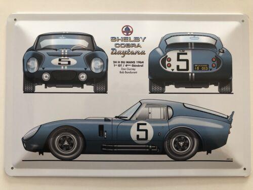 Blechschild 30 X 20 cm Shelby Cobra Daytona