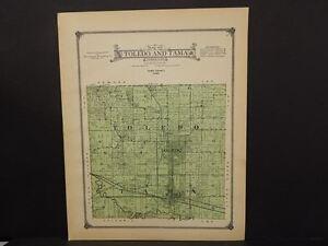 Details about Iowa Tama County Map Toledo & Tama Township 1916 J13#09