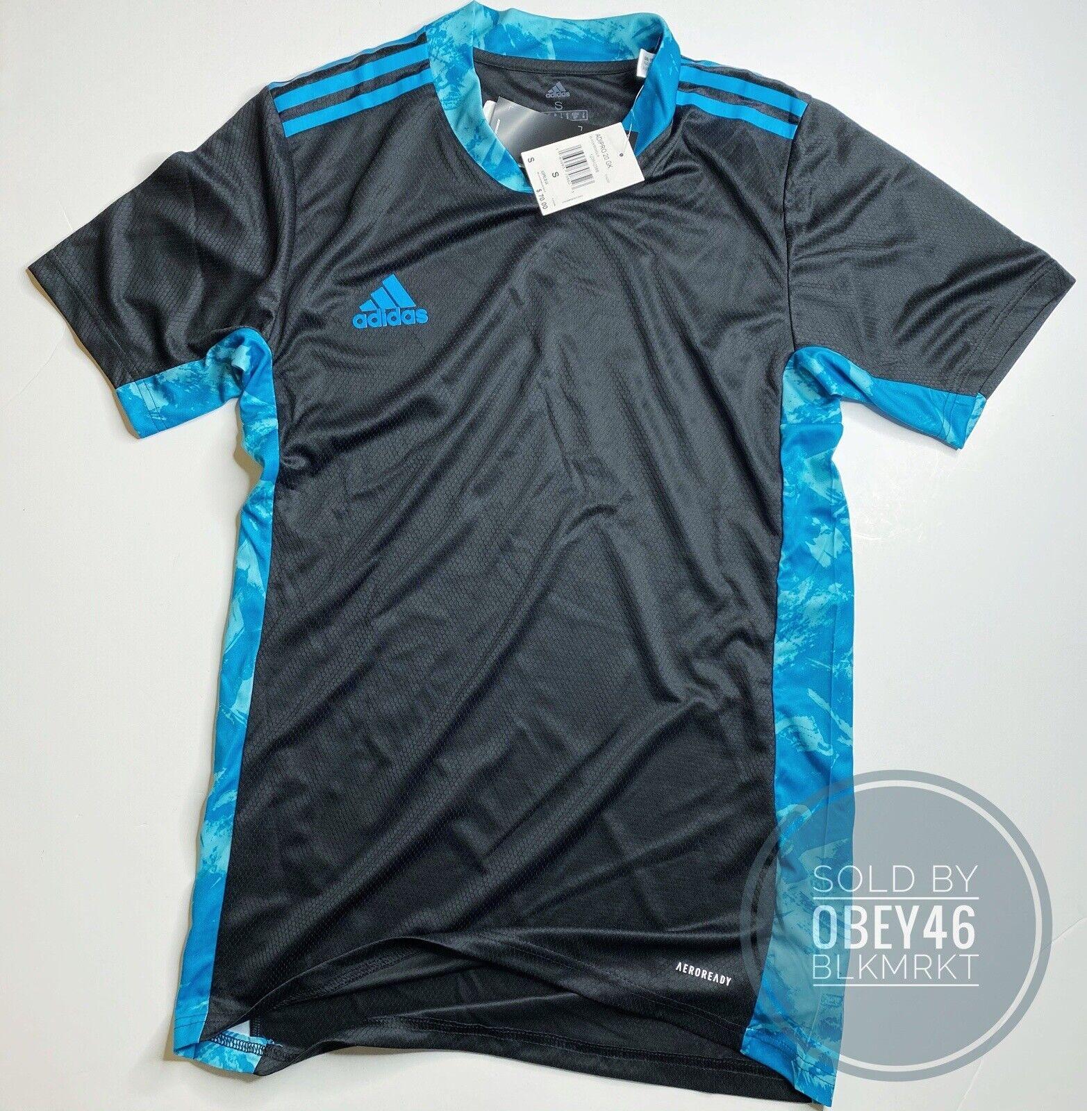adidas Adipro 20 GK M Fi4205 Goalkeeper Jersey Shirt Black Aqua Sz ...