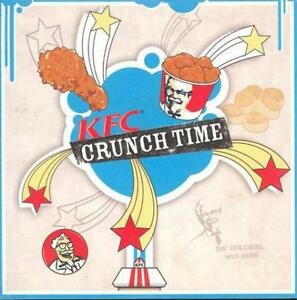 kfc crunch time promo pc cd fast food chain chicken colonel kentucky