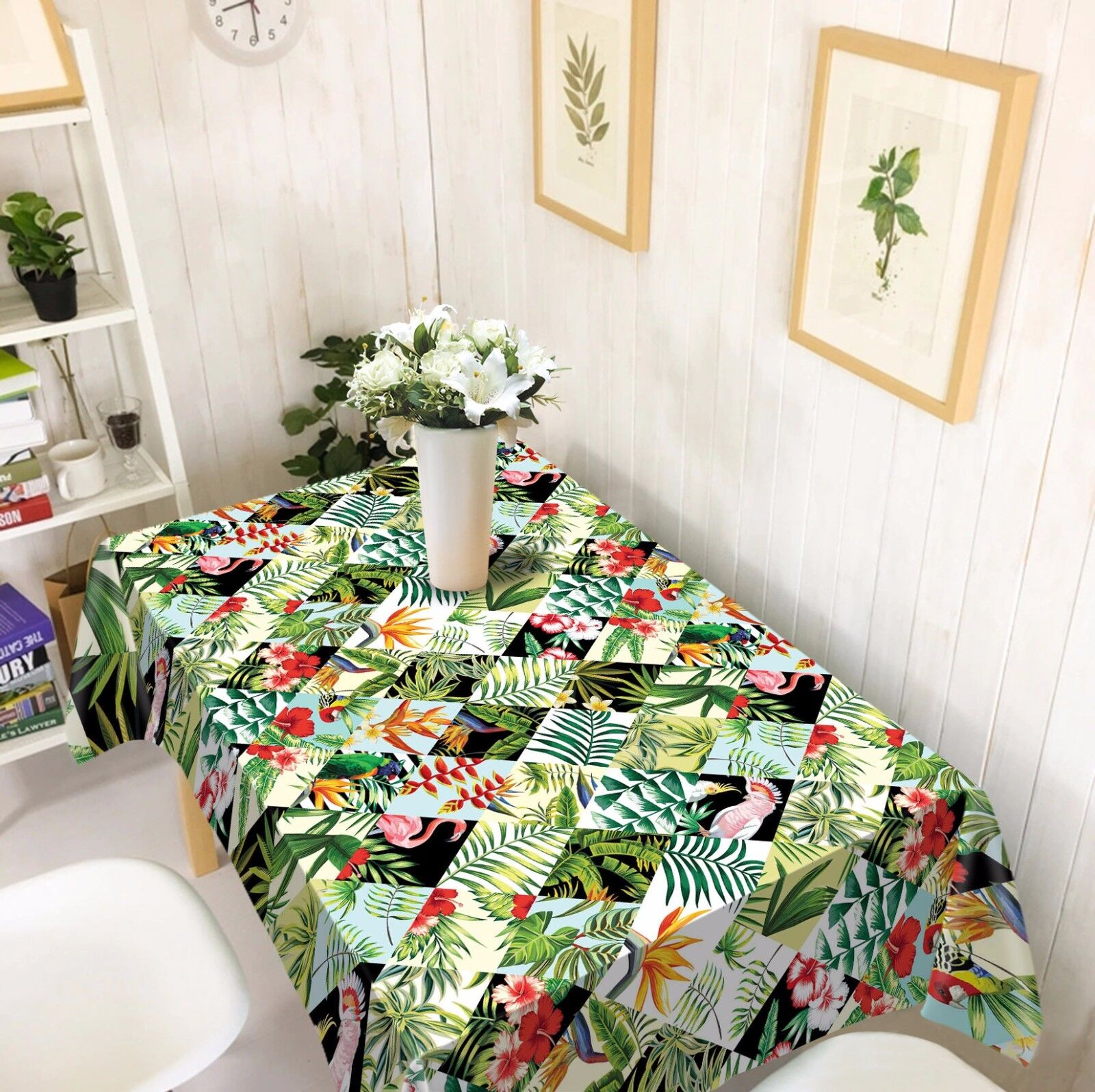 3D Leaves 44 Tablecloth Table Cover Cloth Birthday Party AJ WALLPAPER UK Lemon