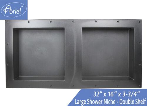 "SHOWER CUBE Leakproof 16/"" x 32/"" Bathroom Recessed Shower Double Shelf Niche"