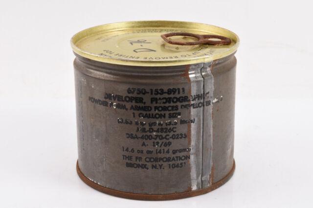 Vintage U.S Armed Forces Military Film Developer Powder 1 Gallon Size NOS