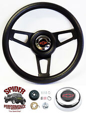 "1974-1994 Chevy pickup steering wheel BOWTIE BLACK SPOKE 13 3/4"" Grant"
