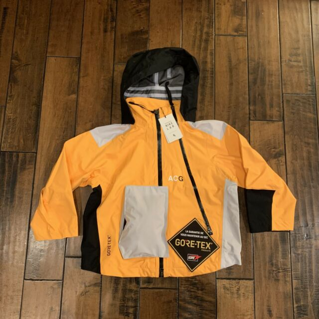 Women's NikeLab ACG Deploy Gore Tex Jacket YellowGrey Size: Small AJ0954 845
