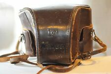 Nikon F Eveready Leather hard camera case  Nippon Kogaku Brown vintage
