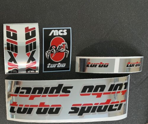 MSC TURBO SPIDER FRAME DECAL SET For Restoration-choice of colors