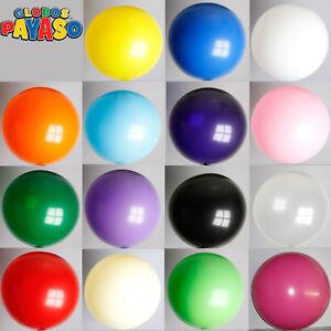 24-034-2-ft-approx-0-61-m-Gigante-Color-solido-liso-de-Globos-de-Latex-Decoracion-Fiesta-Grande