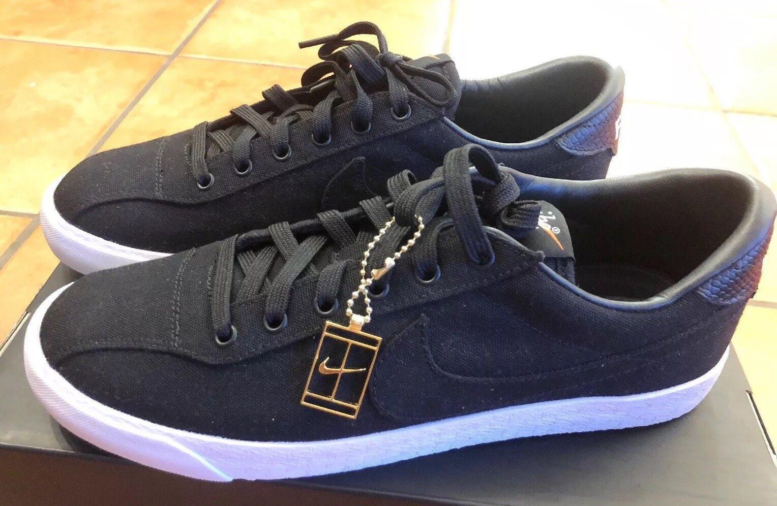 Nike Air Zoom Lauderdale Fragment Mens Tennis shoes Black White 857948 001 Sz 7
