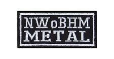 NWoBHM Metal Heavy Biker Rocker Patch Aufnäher Bügelbild Musik Kutte Badge T14