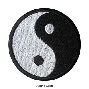 YIN-YANG-Heat-Activator-Embroidered-Patch-Iron-on-Sew-On-Badge-For-Clothes-etc