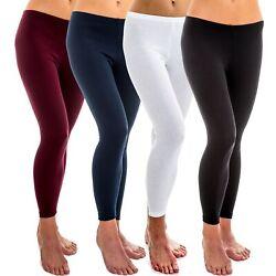 Damen Legging Unter Hose women Leggins 100% Baumwolle leggings lang HERMKO 1720