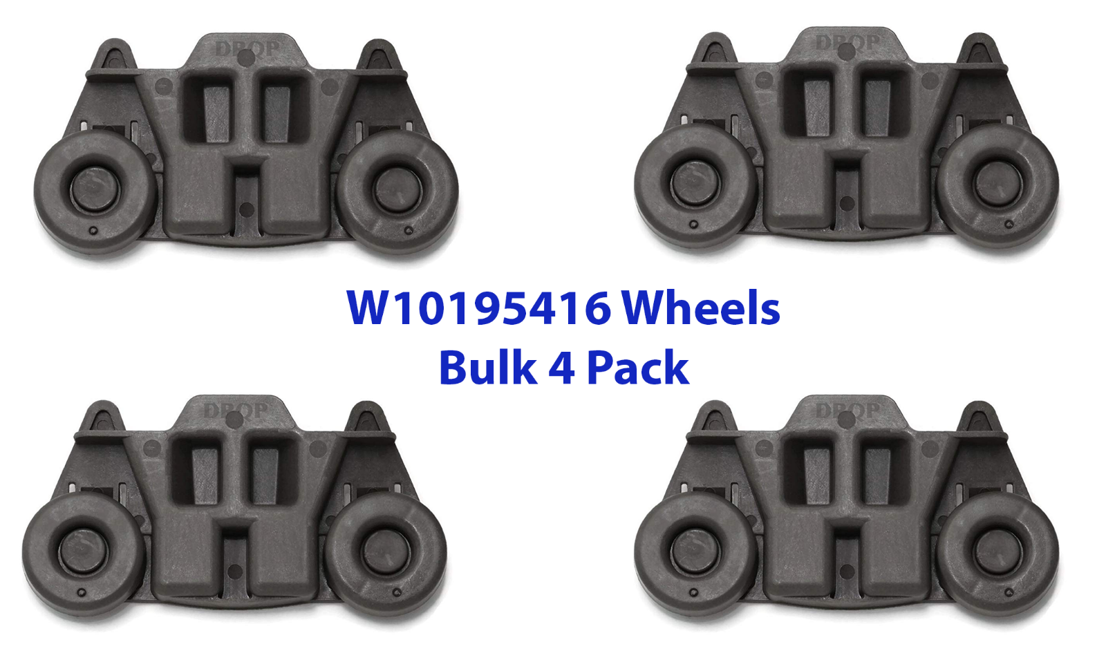 4pcs W10195416 Whirlpool Dishwasher Wheel Assembly AP5983730 PS117221 UPGRADED