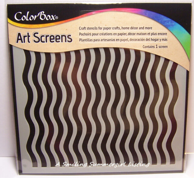 Groovy Wave Layering Stencil Art Screen for Paper Crafts, Home Decor and More!