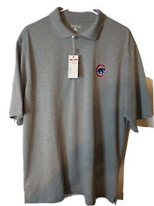 Chicago-Cubs-MLB-Mens-Short-Sleeve-Polo-Shirt-Size-Large-NEW-Antigua-Brand