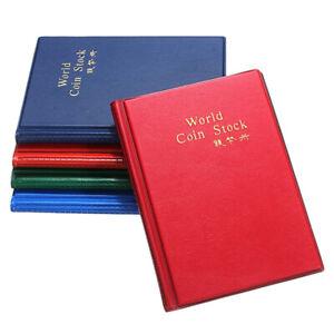 120 Coin Cases Holder Collection  Album Book Pockets Storage Folders HOT S9J8I