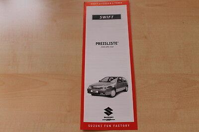 ZuverläSsig 83882) Suzuki Swift - Preise & Extras - Prospekt 04/2000