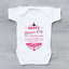 Happy Fathers Day Daddy Mum Says You/'re Welcome Girls Baby Vest Grow Bodysuit