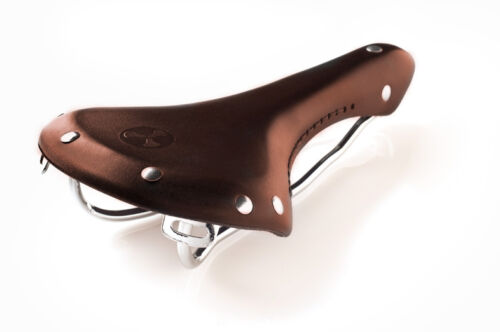 Vintage Classic Retro Genuine Leather Road//Fixie Bicycle Saddle Brown