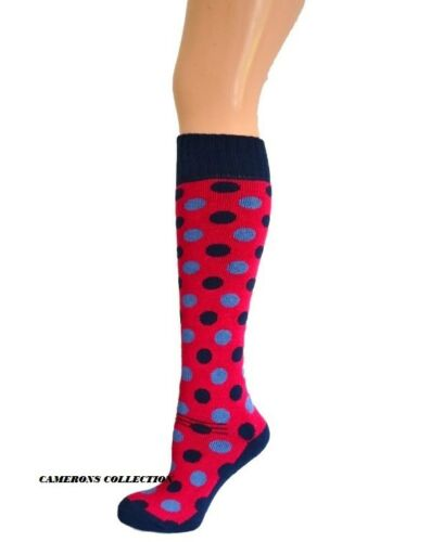 2 PAIRS Ladies//Teenagers BRAMBLE EQUESTRIAN Spot Riding Socks  4-7
