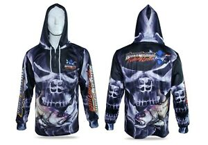 b192867e Smokey Skull Jewfish Hooded Fishing Shirt Mens XS Up To 6XL + Kids 6 ...