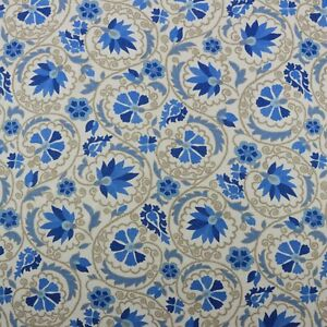 RICHLOOM MARAKESH BLUEBELL BUE JACOBEAN FLORAL LINEN ...