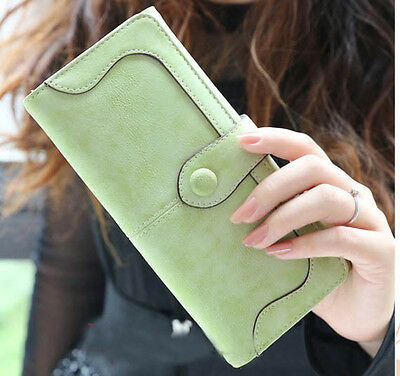 2015 New Fashion Retro Matte Stitching Lady Women Wallet Long Card Holder Purse