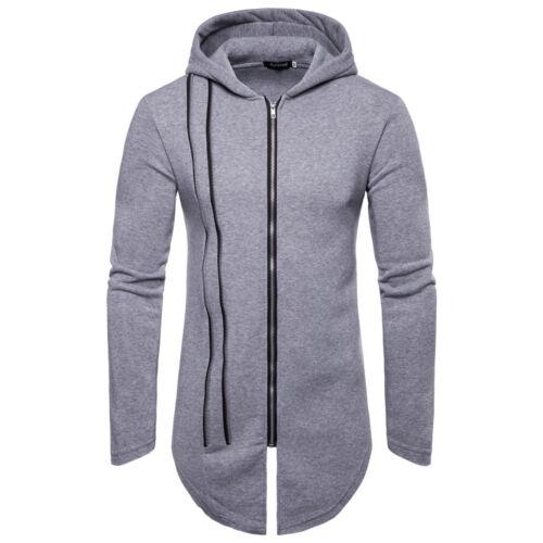 Men/'s Winter Slim Hoodie Warm Hooded Sweatshirt Long Jacket Coat Outwear Sweater