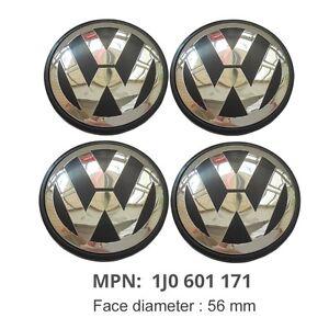 4pcs 56mm wheel center cap 1j0601171 emblem for volkswagen. Black Bedroom Furniture Sets. Home Design Ideas