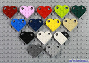 LEGO-Heart-Charm-PICK-YOUR-COLORS-3x2-Plates-w-Hole-Love-Valentine-Coupling