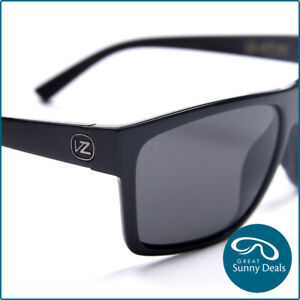 NEW-POLARISED-Von-Zipper-Dipstick-Gloss-Black-Grey-Sunglasses-SMSDIP-PBV